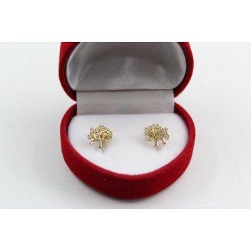 Златни обеци жълто злато Дървото на Живота 3460