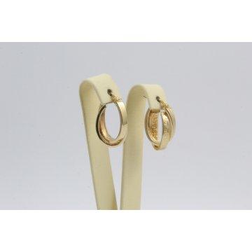 Златни дамски обеци халки жълто злато 3463