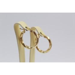 Златни дамски обеци тип халки жълто злато 3464