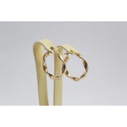 Дамски златни обеци халки жълто злато 3467
