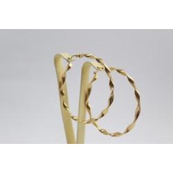 Златни дамски обеци халки жълто злато 3470