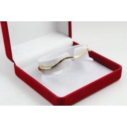 Дамска златна твърда гривна жълто злато