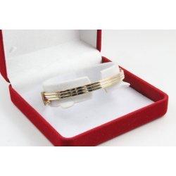 Златна женска твърда гривна бяло жълто розово злато 3480