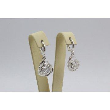 Дамски сребърни обеци Роза Нео 3528