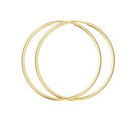 Златни дамски обеци класически халки жълто злато 3617
