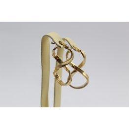 Златни женски обеци осмици жълто злато 3621