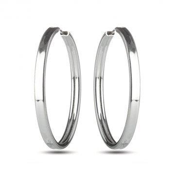 Дамски сребърни обеци халки 3625