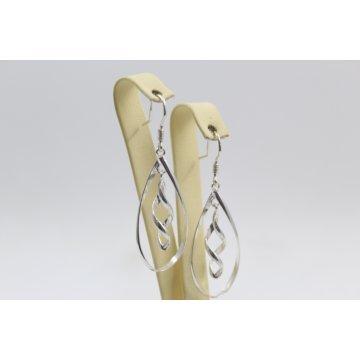 Дамски сребърни висящи обеци 3631
