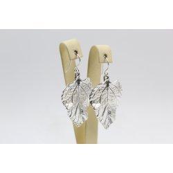 Дамски сребърни обеци Листа 3632