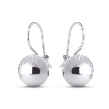 Дамски сребърни обеци Топки 3632