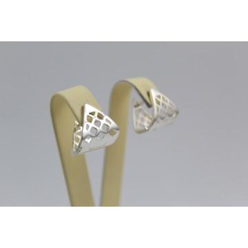 Дамски сребърни обеци с английско закопчаване 3635