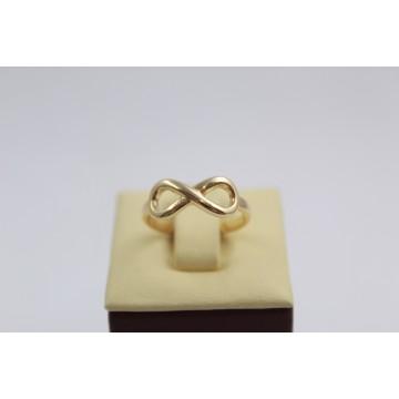 Дамски златен пръстен безкрайност жълто злато 3648