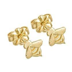 Златни женски обеци Пчели жълто злато 3653