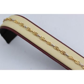 Дамска златна гривна бяло жълто злато 3659