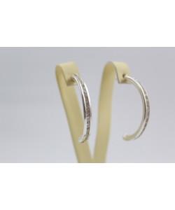 Висящи сребърни обеци бели камъни винт 3660