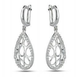 Висящи сребърни обеци Контеса 3660