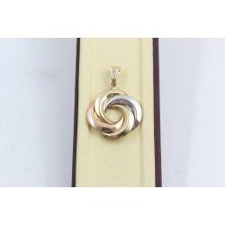 Дамски златен медальон бяло жълто розово злато 3662