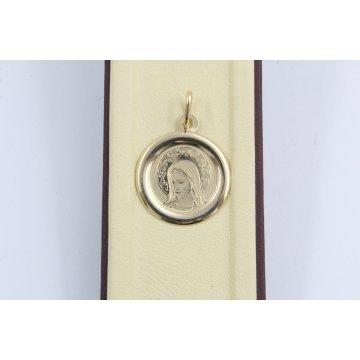 Дамски златен медальон богородица жълто злато 3663