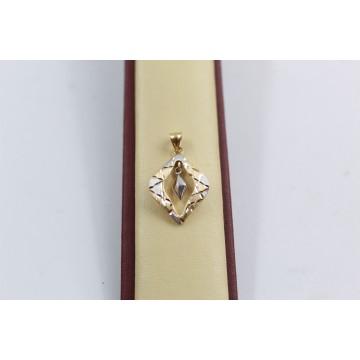 Дамски златен медальон бяло жълто злато 3674
