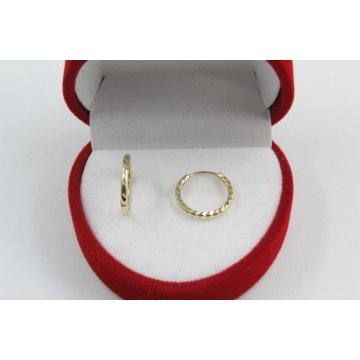 Детски златни обеци халки жълто злато 3677