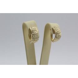Дамски златни обеци английско закопчаване жълто злато 3679
