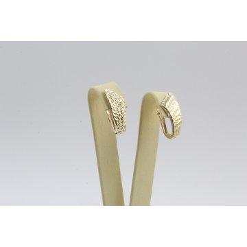 Дамски златни обеци гравирани жълто злато 3680