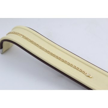 Златна унисекс гривна жълто злато 3689