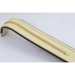 Златна плоска гривна на елементи жълто злато 3693