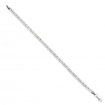 Сребърна гривна с плетка барлъ 3728