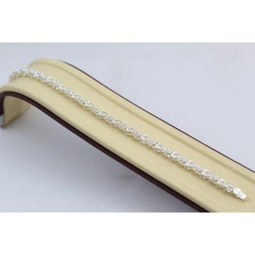 Дамска сребърна гривна кралска плетк 3729