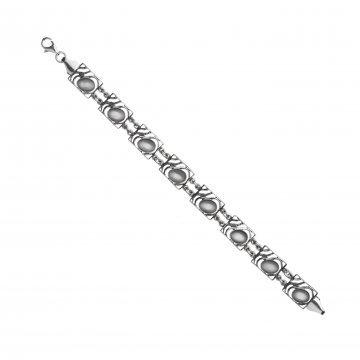 Дамска сребърна гривна с лунен камък Лунна Нощ 3736