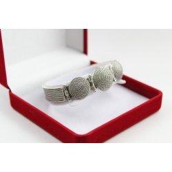 Дамска сребърна твърда гривна Горгона Медуза 3738
