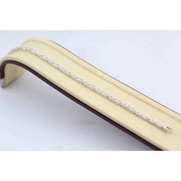 Сребърна гривна квадратна кралска плетка 3745