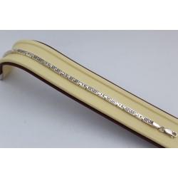 Дамска сребърна гривна на гравирани елементи тъмно сребро 3752