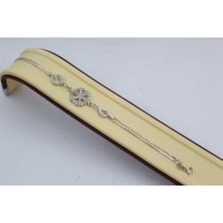 Дамска сребърна родирана гривна Снежинка 3773