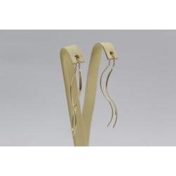 Дамски златни висящи обеци жълто злато 3812