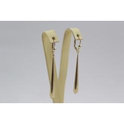 Дамски златни висящи обеци жълто злато 3813