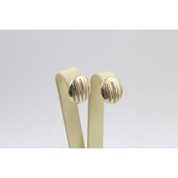 Дамски златни обеци жълто бяло злато 3813