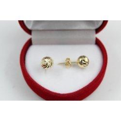 Дамски златни обеци топчета жълто злато 3814