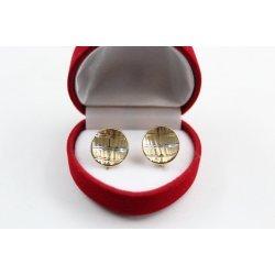Дамски златни обеци жълто и бяло злато 3816