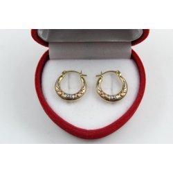 Дамски златни обеци бяло жълто розово злато 3818