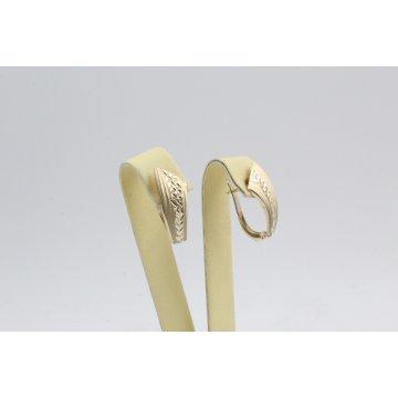 Златни дамски обеци жълто злато 3824