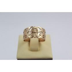 Златен дамски пръстен ретро модел жълто злато 3827