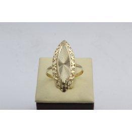 Златен дамски пръстен Бадем Ретро Голям жълто злато 3828