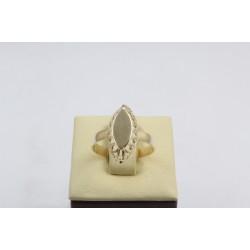 Златен дамски пръстен Бадем Мини жълто злато 3830