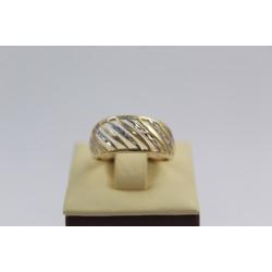 Златен дамски пръстен бяло жълто злато 3831