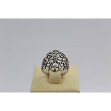 Дамски сребърен пръстен тъмно сребро Ретро 3839
