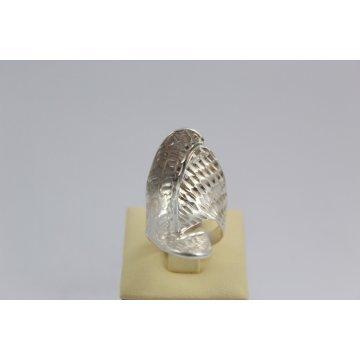 Дамски сребърен диамандиран пръстен 3840