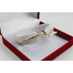 Дамска златна твърда гривна пирон жълто злато 3852