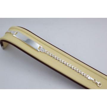 Сребърна гривна с плочка 3885
